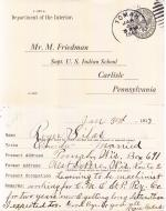 Roger Silas Student File