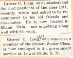 Grover C. Long Student File