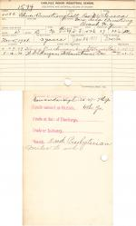 Elmer Amstrong Student File