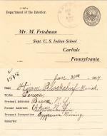 Hiram Blackchief Student File