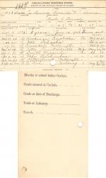 Walter Lee Kennedy Student File