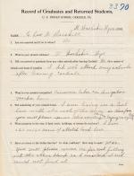 Charles Driskell Student File