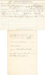 Martha James Student File
