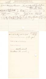 Mamie Hoxie Student File