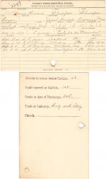 Annie Howard Student File