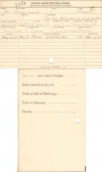 Mary Hunter Student File