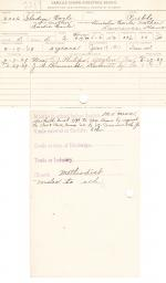 Gladys Earle Student File