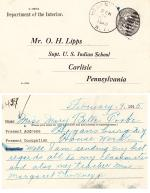 Mary Belle Cooke Student File [entered 1906]