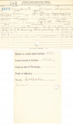 Mary Cook (Ovwari) Student File [entered 1901]