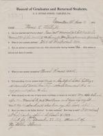 Mamie Gilstrap Student File