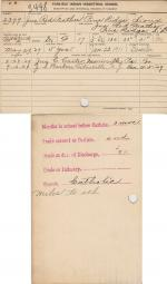John Red Feather Student File