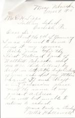 Nellie Hallowell Student File