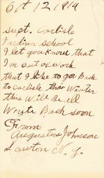 Augustus Johnson Student File