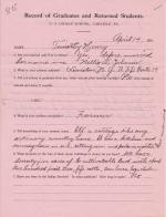 Timothy Henry Student File