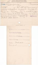 Martha Johnson Student File