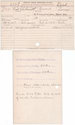 Fred War Bonnet Student File