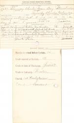 Chauncey Charles Student Information Card
