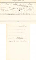 Mamie Chisholm Student Information Card