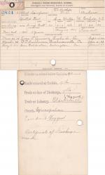 Albert Simpson (Spotted Tail) Student Information Cards