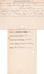 Helen Feather Student Information Card