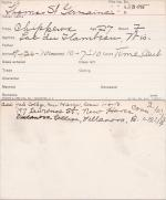 Thomas St. Germaine Student Information Card