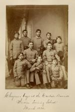 Ten male Cheyenne students [version 2], 1880