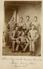 Seven male Kiowa students [version 2], 1880