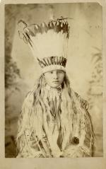 White Buffalo in headdress