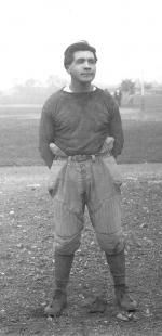 Elmer Busch in football uniform, c.1911