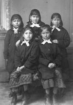Five female students, 1880
