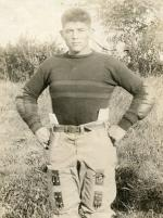 Peter Calac in football uniform, 1916