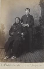 William Fletcher and his uncle, Old Crow [version 2], 1884
