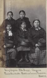 Lucy Black Shortnose, Ella Hippy, Fanny (Knife Holder), Mabel Doanmoe, and Laura Doanmoe [version 2], 1880