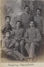 Six male Osage students [version 2], c.1881