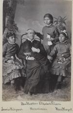 Jennie Waupoose, Elizabeth Dixon, and Alice Neopet with Sarah Mather [version 2], c.1881