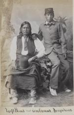 Left Hand and his son, U.S. Grant (Grant Left Hand) [version 2], c.1880