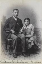 Clay Ainsworth and Rosa Lewis, c.1883