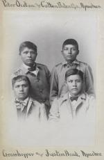 Pete Ocotea, Colton Balcatzah, Grasshopper, and Justin Head [version 2], c.1885