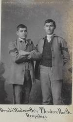 Arnold Woolworth and Theodore North, c.1882