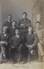 White Buffalo and six unidentified male Cheyenne students, c.1883