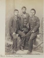 Albert J. Minthorn and two unidentified young men, c.1893