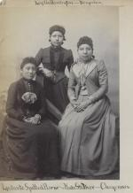 Ledants Spotted Horse, Lydia Harrington, and Kate Stocker [version 2], c.1889