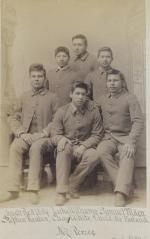 Six male Nez Perce students, c.1892