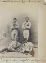Four young men in baseball uniforms [version 2], c.1888