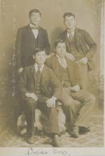 Four unidentified male students #4, c.1900
