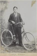 George Conner with bicycle, c.1890