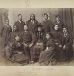 Quanah Parker and Lone Wolf with a group of students [version 2], 1894