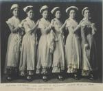 "Female students as ""A Sextette of Plymouth Daisies"" in ""The Captain of Plymouth"", 1909"