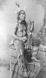 Poor Wolf showing painted body ornamentation, c.1880