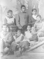 Seven unidentified Pueblo students [version 2], c.1898